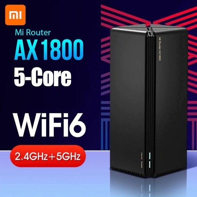Roteador Xiaomi Mi Router Ax1800 Wi-fi 6, Mesh, 5-Core, Giga 100/1000 ou 12X R$ 41,61