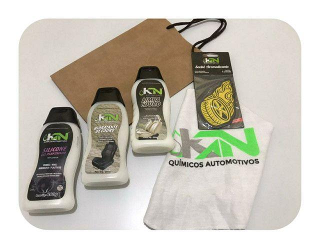 Entrega grátis Kit KN revitaliza couros  + silicone gel + cheirinho e flanela