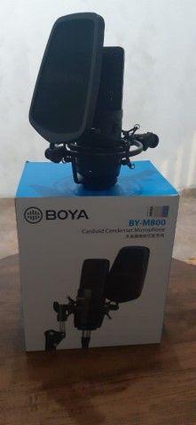 Microfone condensador Boya profissional
