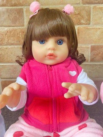 Linda Boneca bebê Reborn toda em Silicone Realista 48cm Nova Original (aceito cartão  - Foto 5