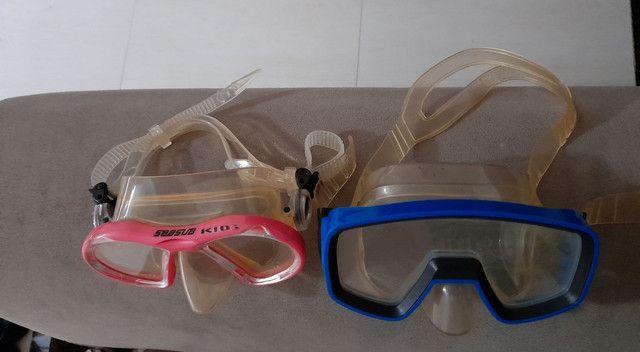 Nadadeiras (pé de pato) seminovas - Foto 5