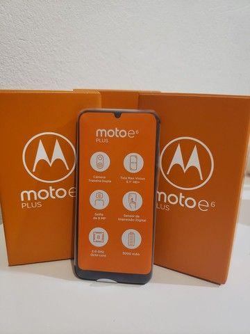 Moto E6 plus novo 1 ano de garantia