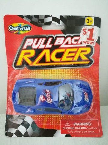 Carrinho De Brinquedo Novo Pull Back Racer Azul Fricção - Foto 2