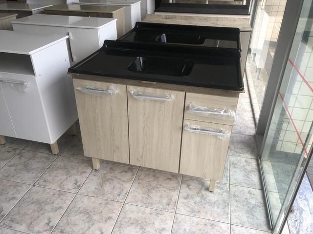 Pia de Cozinha 1metro com cuba - Entregamos