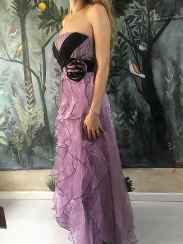 Vestido festa lilás - Foto 4