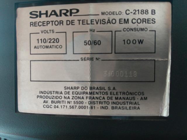 TV tubo 21 pol. Sharp stereo modelo C 2188-B - Foto 4