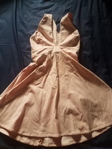 Vendo vestido salmao tamanho G marca Lorena Vieira
