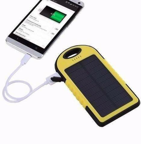 Carregador portátil para celular - Com bateria solar