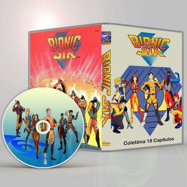 Dvd Os 6 Bionicos Coletânea Dublada