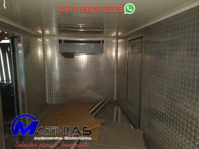 Camara fria 5.50m semi novo aparelho de frio acoplado e eletrico Mathias implementos - Foto 2