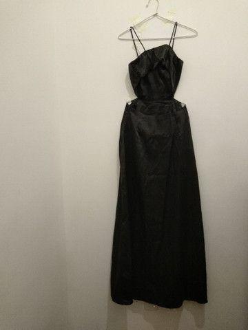 Vestido longo preto de festa - Foto 2
