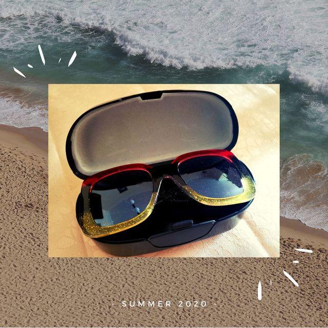 Óculos de sol feminino Nagata, multicolor glitter, Fashion Summer. - Foto 2