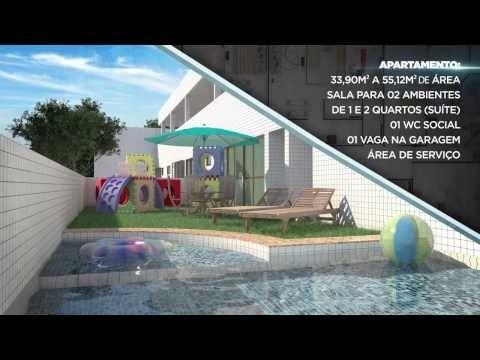 Edifício Luar da Praça, apartamentos com 1 a 2 quartos, 34 a 55 m² Casa Caiada - Olinda/PE