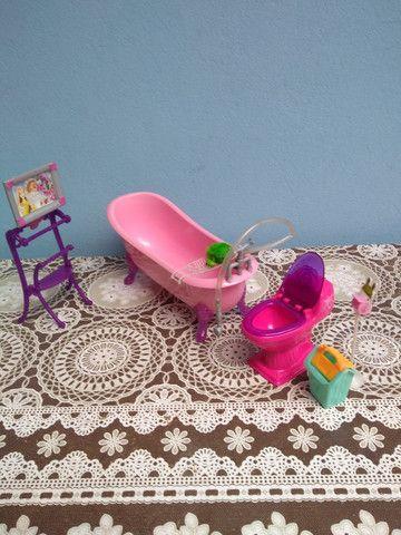 Banheiro Barbie c banheira