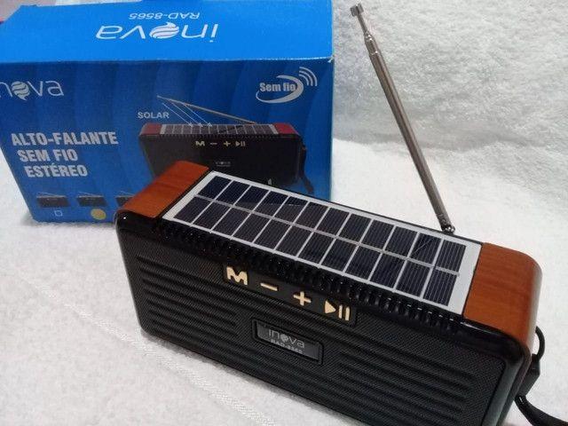 Radio solar sustentável FM Bluetooth,cartão De Memoria,pendrive - Foto 4