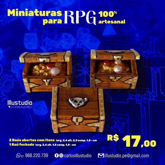 Miniaturas RPG 100% Artesanal - Madeira - Foto 2