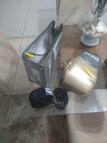 Luva Nova de boxe Everlast + Bandagem Vollo + Bolsa Original - Foto 3