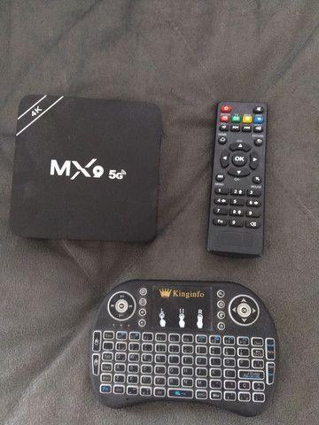 Tv Box MX9 5g + Controle Teclado