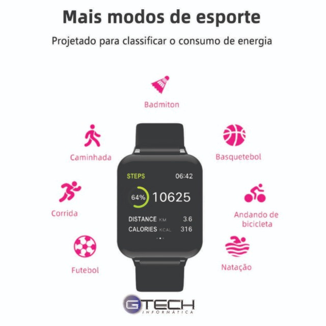 Smartwatch Relógio Inteligente HeroBand 3 B57 - Foto 2