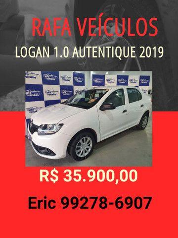 Logan 1.0 autentique 2019 R$ 35.900,00 - Eric Rafa Veículos