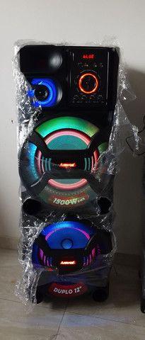 Caixa de som amvox portátil  1500 watts rms