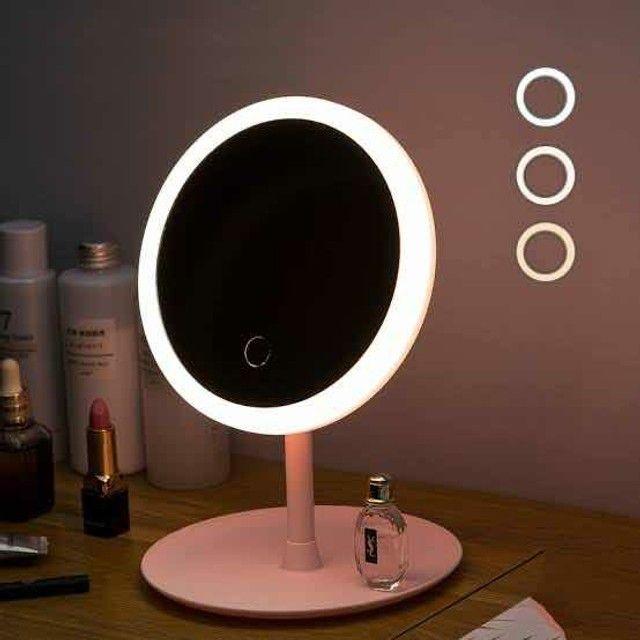 Espelho com Luz de Led P/ Maquiagem Ajustável