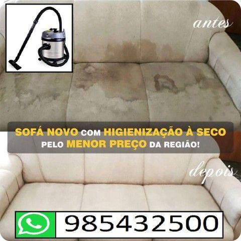 Lavagem para sofá a seco (informações pelo whatsapp)<br> - Foto 2
