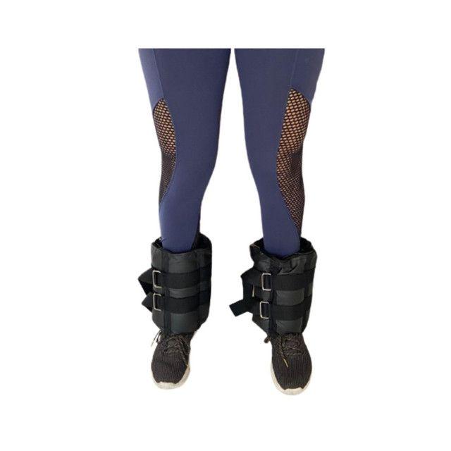 Caneleiras ajustáveis peso tornozeleiras  - Foto 4