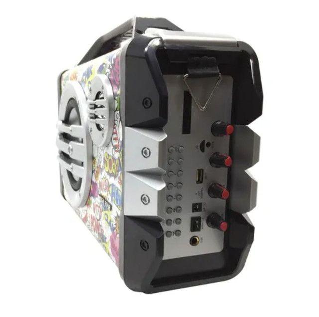 Caixa de som Mega star (com microfone.) - Foto 4