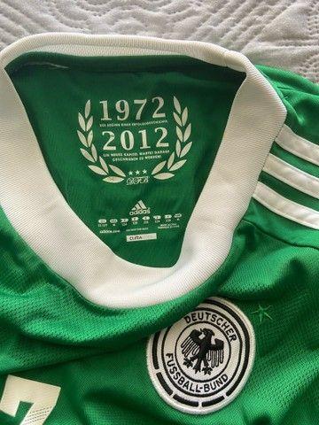 Camisa Oficial Adidas (M infantil) - Seleção Alemanha - Foto 3