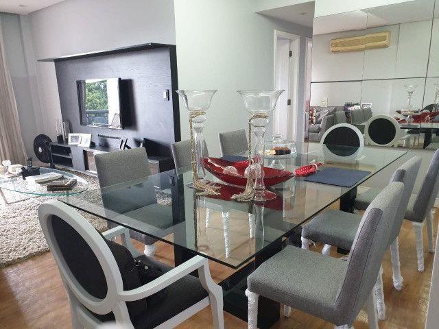Vendo mesa de vidro com pé em laca