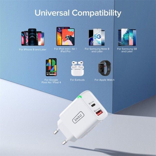Carregador Ultra Rápido para Smartphones UNIU 20W - Foto 5