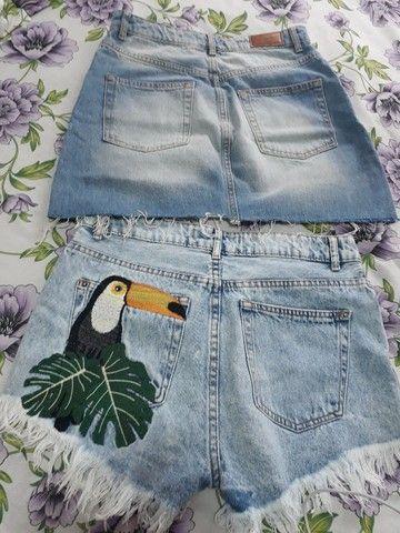 Saia e short jeans - Foto 3