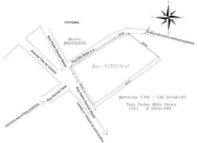 Vendo terrenos em bairro Hortencio Girua RS - Foto 3