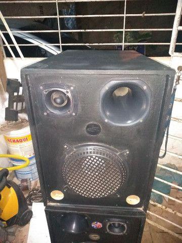 Caixa de som fone de 10 corneta e twitter - Foto 2