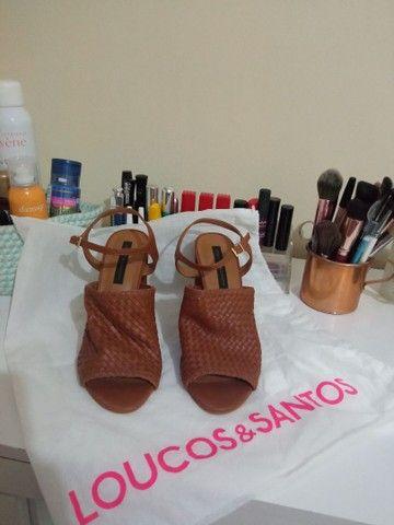 Sandália de couro tamanho 37 - Jorge Bischoff - Nova!