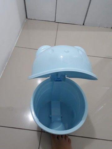 Lixeira ursinho azul bebê - Foto 3
