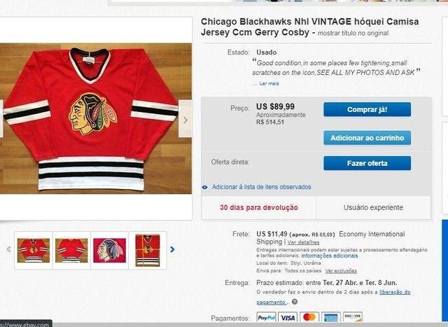 Camiseta chicago blackhawks Vintage hóquei - Foto 3