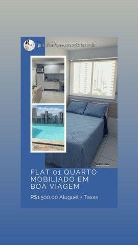 PM- Alugo Flat Mobiliado 01 quarto ao Lado do Colégio Santa Maria