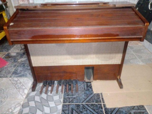 Piano antigo órgão eletrônico - Foto 4