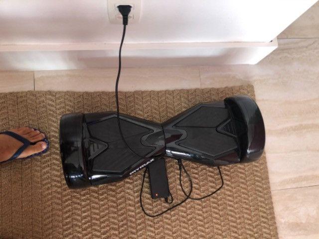 Hoverboard preto c/Bluetooth som e luzes - Foto 5