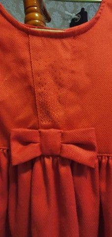 Vestido infantil vermelho - 6 anos - Foto 2
