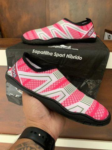 Sapatilha Adidas Híbrido $150,00 - Foto 3