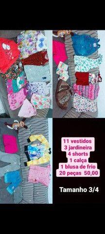 Lote roupa infantil feminina  - Foto 4