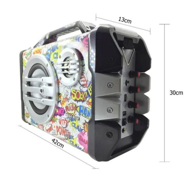 Caixa de som Mega star (com microfone.) - Foto 2