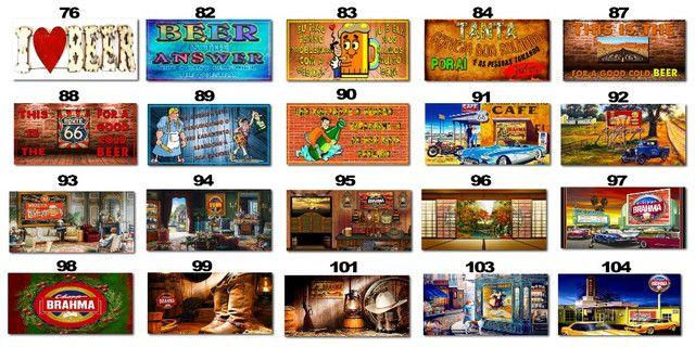 Placas Decorativas com Frases Divertidas de Bebida Kit com 7 placas - Foto 3