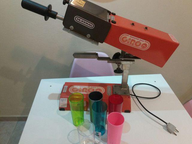 Máquina transfer + 100 long drinks +50 canetas para personalizar - Foto 2