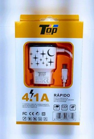 Carregador turbo 4.1 A ( universal vários aparelhos)