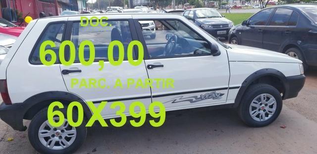 Fiat Uno a partir 600 + 60x299,00 black feirão