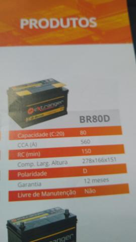 Bateria automotiva 80 amperes garantia 12 meses - Foto 2